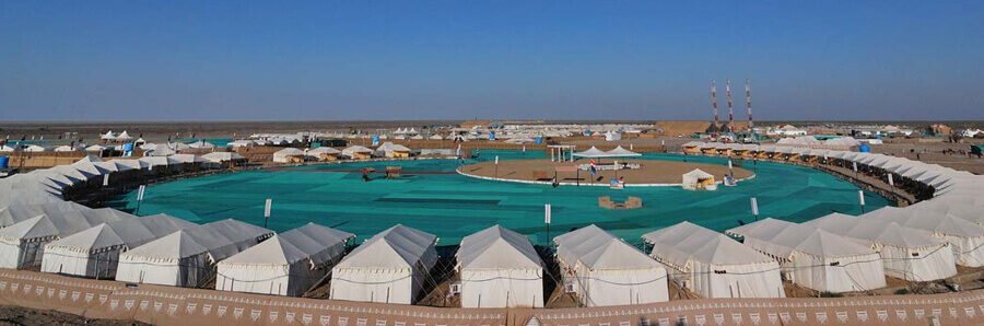 tent stay at rann utsav - the desert festival the backpackers group
