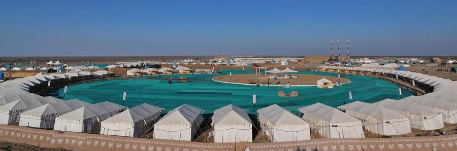 tent stay at rann utsav - the desert festival the backpackers group