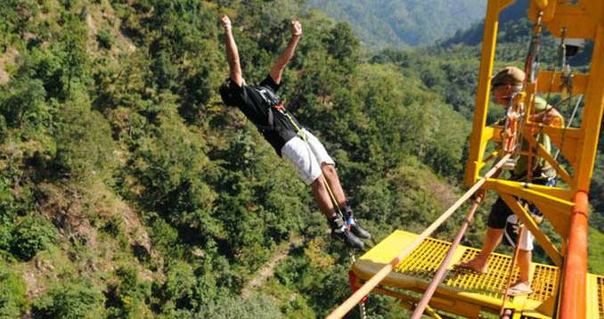Bunjee Jumping - Rishikesh A Blissful Abode - The Backpackers Group