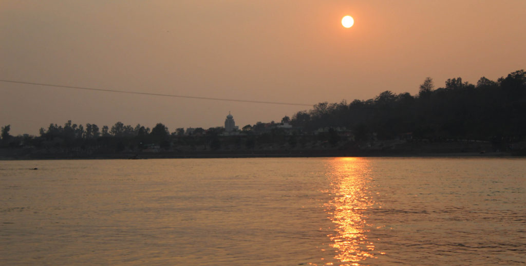Sunset at Ram Jhula - Rishikesh A Blissful Abode - The Backpackers Group
