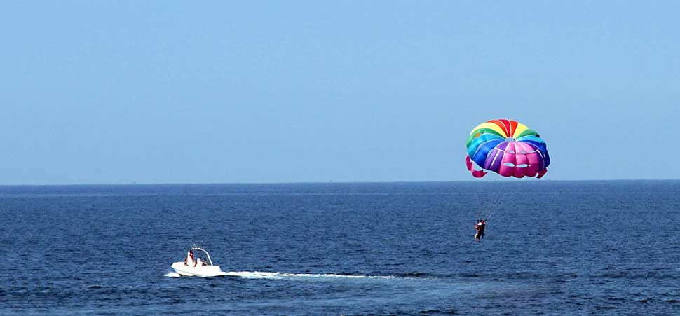 Parasailing - Goa - Destinations for adventure lovers in India - The Backpackers Group