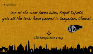 Royal Enfield Tanks Hand Painted In Chennai - Travel Facts - The Backpackers Group