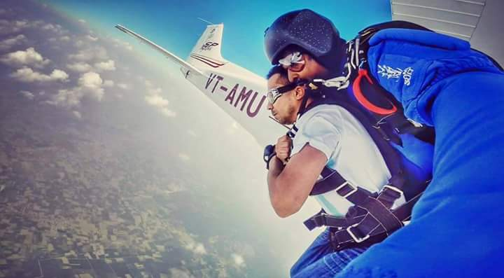 Sky Diving - Mysore - Destinations for adventure lovers in India - The Backpackers Group
