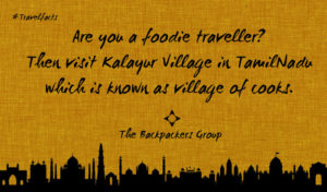 Village Of Cooks - Kalayur - TamilNadu - Travel Facts Of India - The Backpackers Group