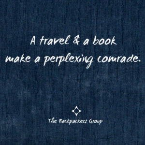Travel And A Book - Travel Quotes - The Backpackers Group