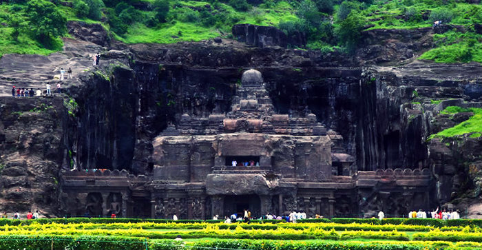 Kailasa Temple - Front Look - Ellora Caves - Maharashtra - The Backpackers Group