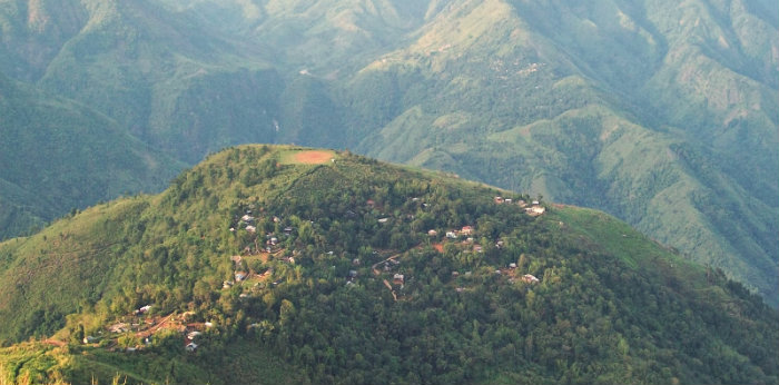 Kongthong Village - The Whistling Village of India - Meghalaya - NorthEast Travel India - The Backpackers Group - Aerial View